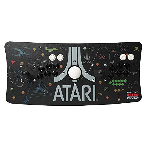 Atari Arcade Fightstick USB Dual Joystick 2 Player Game Controller for PC Mac Raspberry Pi Console Xbox PC Version PS3 with Trackball