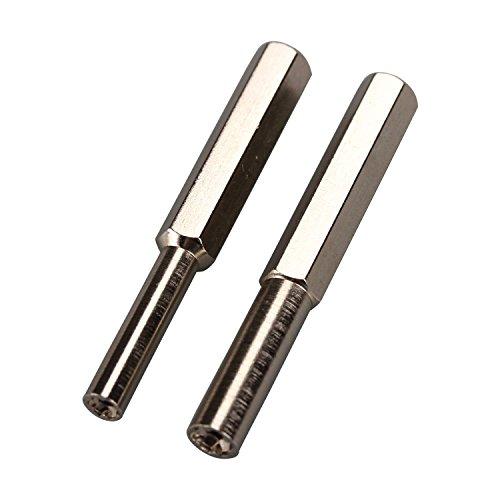 eJiasu Beveiliging Schroevendraaier Set,Beveiliging Bit Staal Beveiliging Schroevendraaier Tool Game Bit 3.8mm 4.5mm Schroevendraaier voor Nintendo NGC/SFC/N64/SEGA Gameboy Open Tools Kit (2st)