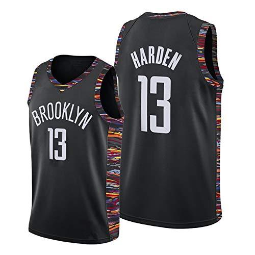 EARAID Jersey de Baloncesto Adulto, Nets James Harden # 13 Swingman Jersey, Bordado Swing Polyester Baloncesto Uniforme City EditionA-M