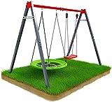 K-Sport Balançoire d'extérieur pour enfants avec cadre en acier
