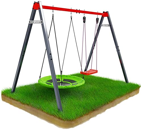 K-Sport Nest Soucoupe Balançoire dextérieur pour enfants avec cadre en acier