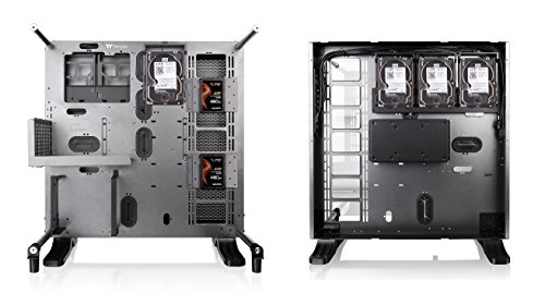Thermaltake Core P5 Tempered Glass Titanium Edition ATX Vertical GPU Modular Gaming Open Frame Computer Case CA-1E7-00M9WN-00, Black