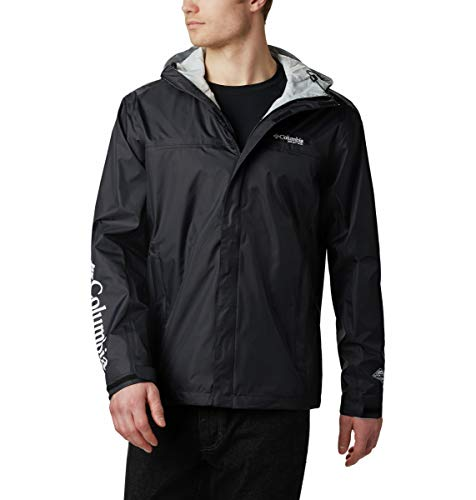 Columbia Men's PFG Storm Jacket, Black/Cool Grey, X-Small