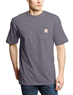 Carhartt Men's K87 Workwear Short Sleeve T-Shirt (Regular and Big & Tall Sizes), Carbon Heather, Small