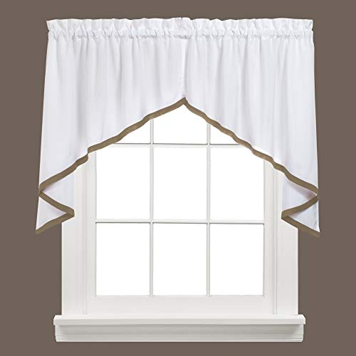 """SKL Home by Saturday Knight Ltd. - M7006700028S09 Kate Swag Valance Pair, 58"""" x 28"""", Taupe"""