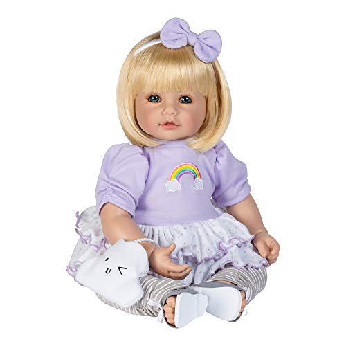 Adora Toddler Doll Over The Rainbow Doll with Rainbow appliquéd Outfit and Soft Cloud Purse