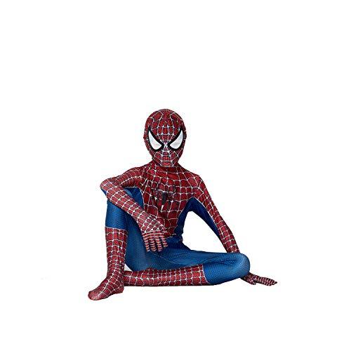 YUNFENG Kids Bodysuit Superhero Costumes Spandex Halloween Cosplay Costumes (Large, White/Blue)…