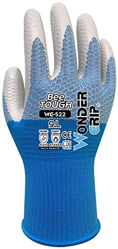 Wonder Grip WG-522 Bee-Tough - Ölbeständiger Arbeitshandschuh, Nitrilbeschichtung; Stricktechnik, Hitzeschutzhandschuhe für sicheres Greifen; L / 09
