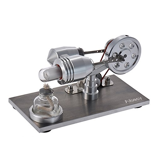 Aibecy - Mini generador eólico con luz LED y motor Stirling para experimentos de física y proyectos escolares