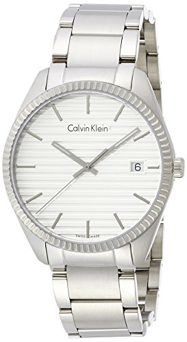 Calvin Klein Herren Analog Quarz Uhr mit Edelstahl Armband K5R31146