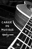 Cahier de musique: Carnet de partitions pour musiciens confirmés ou débutant en solfège - 100 pages de partitions - Format pratique 6x9