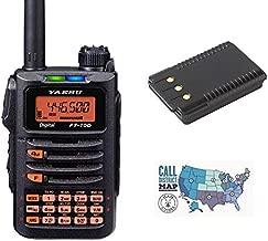 Radio and Accessory Bundle - 3 Items - Includes Yaesu FT-70DR C4FM/FM 144/430 MHz Dual Band 5W HT Transceiver, Yaesu SBR-24LI 1,800 mAh Li-ion Battery and Ham Guides TM Quick Reference Card