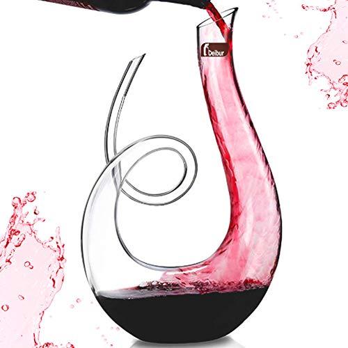 Decanter in vinile, decanter per vino, design con accessori per decantazione rapida vino rosso e bianco