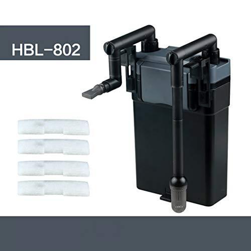Kimqx Small Power Filter (Aquarium Hang on Filter) Filter mit integriertem Wasserwechsel-Siphon - Energiesparend für zyklischen Sauerstoff,802