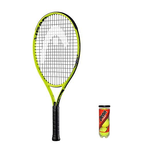 Photo of HEAD Extreme Junior Tennis Racket + 3 Balls and Protective Cover (Sizes 19″-26″) (26″)