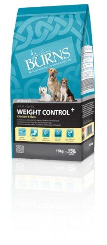 Burns Pet Gewichtskontrolle, Trockenfutter für Erwachsene und Senioren, Huhn, 15 kg