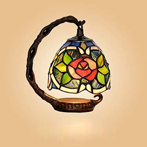 BJLWTQ Lámparas de Mesa, Personalidad Simple Continental Hierro llevada Creativa lámpara de Escritorio, lámpara de cabecera del Dormitorio, luz de la Noche luz de la Noche de Lectura