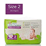 Happy Little Camper x Hilary Duff Ultra-Absorbent Hypoallergenic Natural Baby Diapers with Bio-Core Blend and Strong Latex and Chlorine-Free Protection, Monthly Pack, Size 2, 252 Count
