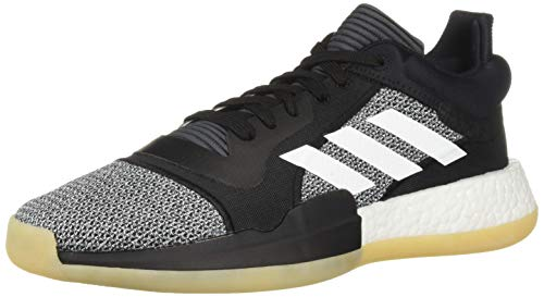 Adidas Marquee Boost Low – Zapatillas para Hombre, Black/White/Shock Cyan, 12 US