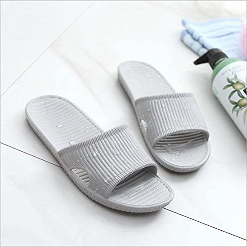 SXYRN Sandalia de baño, Pantuflas Soft Mute-Gris Claro_40-41, Pantuflas de Ducha