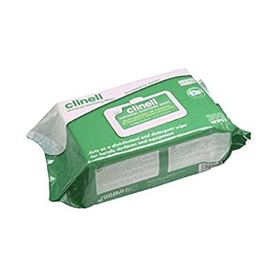 Genuine 1x Clinell Universal Wipes 200 Sanitiser Wash Cleaning - Part Number by Van Line