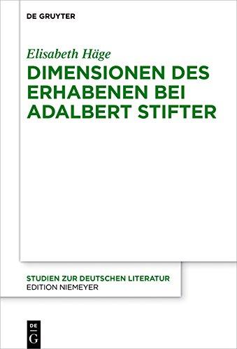 Dimensionen des Erhabenen bei Adalbert Stifter (Studien zur deutschen Literatur 214)