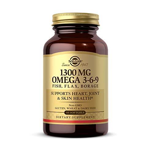 Solgar Solgar Omega 3-6-9, Pesce-Lino-Borragine, Supporto Per Il Cuore, Salute Delle Articolazioni E Della Pelle, Senza Ogm, Senza Glutine E Latticini, 1300 Mg - 50 g