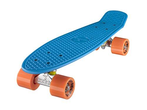 Ridge Retro Cruiser 22 Skateboard, Unisex, Azul Naranja, 58 cm