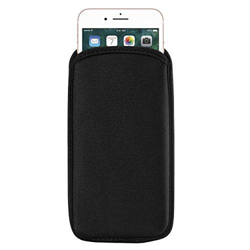 ZZJ 5.7 Black Universal Neoprene Protective Sleeve Compatible for Apple iPhone Xs Max / 8 7 Plus/LG Stylo 4 / Motorola Z3 Play / G6 Plus/Nokia 7 Plus/OnePlus 6 5T