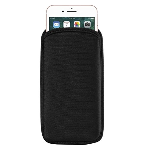 BXQ Neoprene Cellphone Sleeve Compatible for Apple iPhone 11 Pro/XS/X/Google Pixel 4 / HTC Desire 12 / Motorola Moto E6 Play / G7 Play/Nokia 2.2/4.2/1 Plus/Xiaomi Mi 9 SE
