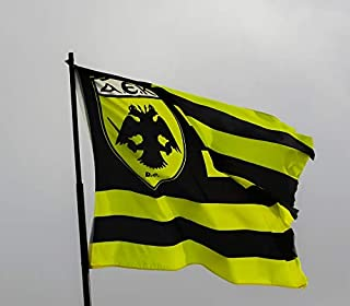 Home Comforts Peel-n-Stick Poster of Soccer Football Waving Flag Fan Club AEK Athens Fc Vivid Imagery Poster 24 x 16 Adhesive Sticker Poster Print