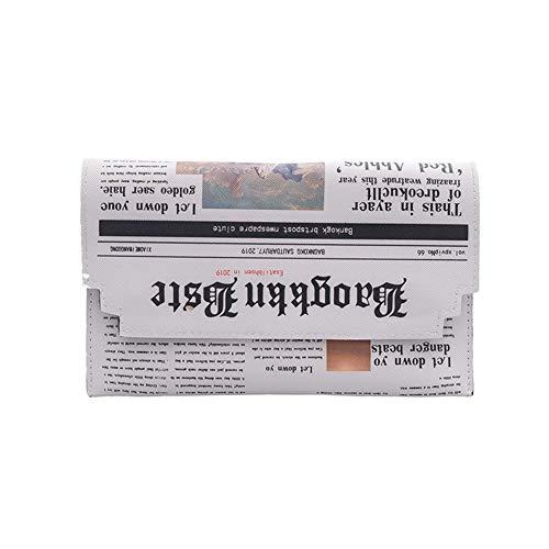 Vrouwen Crossbody Messenger Bag krant afdrukken meisjes Clutch schoudertas