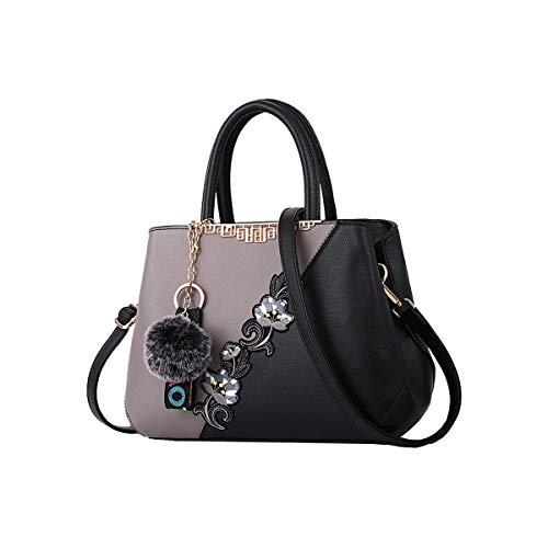 Tisdaini® Damenhandtaschen Mode große Vintage Schultertaschen Shopper Umhängetaschen Weiß