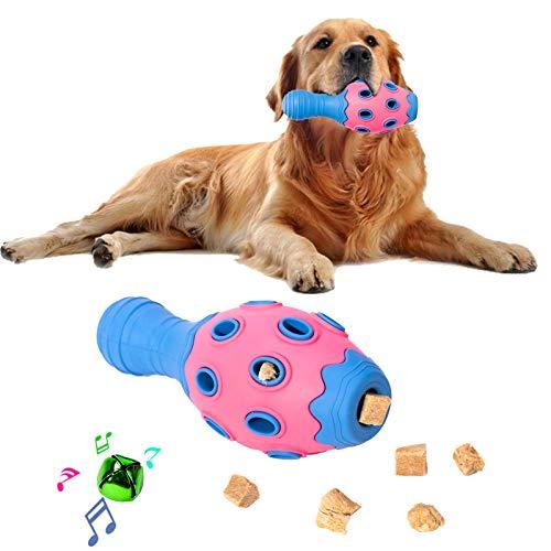 FONPOO Hundespielzeug, Bowling Welpenspielzeug mit Hohles Doppelschichtdesign, Intelligenz Hundespielzeug Eingebauter Glockenkugel, Interaktives Hundespielzeug für Welpen