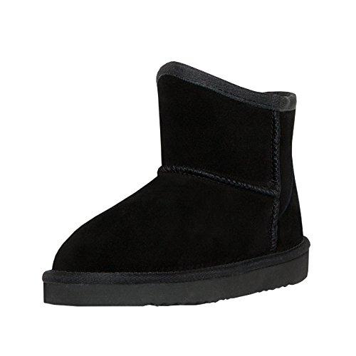 SKUTARI® Classic Boots, Wildlederstiefel mit kuscheligem Kunstfell, gemütliche Damen-Stiefel aus Leder, handgefertigt in Italien, Winterschuhe, Schlupfstiefel, Stiefeletten warm gefüttert (40 EU)