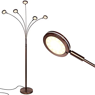 """Brightech - Orion LED Floor Lamp - Dazzlingly Bright""""Constellation"""" of 5 Curving Lamp Heads with Orbs of Embedded LED Lights"""