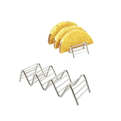 Taco Holders Stainless Steel, a Variety of Specifications Taco Plates, Each Keeping Shells Fun Grill, Oven & Dishwasher Safe Taco Trays Great for Kids or Parties (Size : 3 or 4)