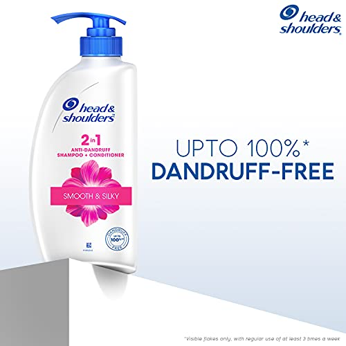 Head & Shoulders 2-in-1 Smooth and Silky Anti Dandruff Shampoo + Conditioner, 650ml/675ml