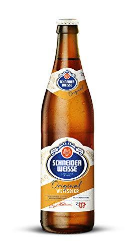 Schneider Weisse - Hefe-Weizenbier (TAP 7 / 20 Flaschen à 0,5 l / 5,4 % vol.) inc. 1.60€ MEHRWEG Pfand