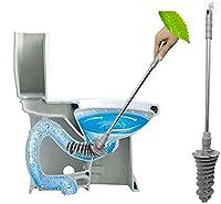 tesss ラバーカップ トイレ掃除 すっぽん パイプクリーナー ぴーぴースルー トイレカバー トイレ つまり 解消 洋式トイレに適応 業務用 掃除用品 粘着フック付き (グレー)