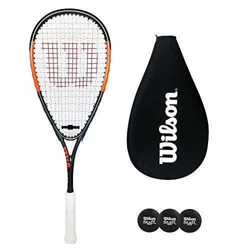 Wilson Hammer Team - Raqueta de squash con cubierta + 3 pelotas de squash