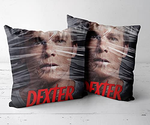 Throw Pillow Case para sofá sofá Sala de EstarJuego de 2 piezas-16 x16-Funda de cojín, Almohada Decorativa para sofá, Coche, Cama y decoración de sillas.-Dexter 80