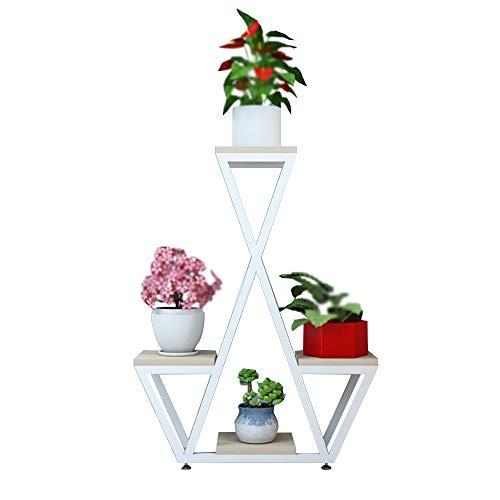 YANFEI étagères à fleurs, Plateau pour pot de fleurs, support à fleurs en fer forgé multicouche, support pour plante, radis vert (taille : B)