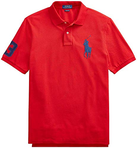 Polo Ralph Lauren Mens Big & Tall Mesh Classic Fit Big Pony Polo Shirt