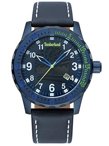 Timberland Reloj Analógico para Unisex Adultos de Cuarzo con Correa en Cuero TBL15473JLBL.03
