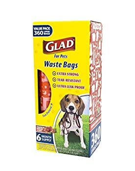 Glad for Pets Large Dog Waste Bags Value Pack   Scented Tear-Resistant Dog Poop Bags for Fast and Easy Dog Waste Cleanup   24 Rolls Waste Bags 360 Count
