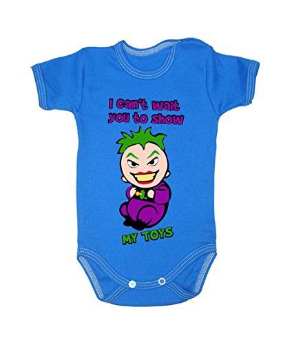 Bodysuits Baby Joker à manches courtes 100% coton 0-24 mois 0006 (6-9 mois, 74 cm, bleu)