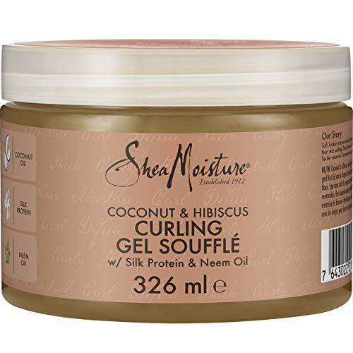 Shea Moisture - Gel modelador para rizos con coco e hibisco, 355 ml