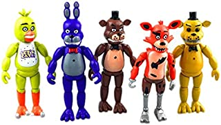 On the five night of the Freddy model, 5 toy characters with lights and movable joints were set up GM-TA0271