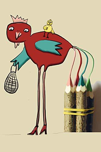 Coole schöne fröhliche Postkarte | Paradies Hahn auf Zaun mit Küken| Zaunkönig